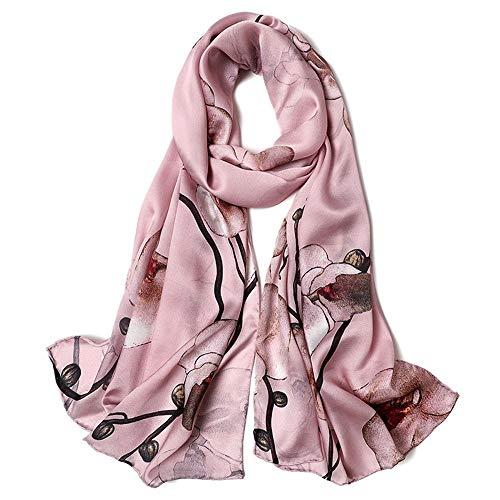 WH-IOE Lady Seidenschal Weich Art und Weise Frauen-Druck Schals Blumenhals-Schal-Schal-Verpackung Sarong Anti-Allergie-Halsschutz Schal für Frauen Warm (Farbe : 7, Größe : 170cm*53cm)