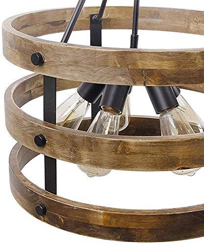 TIANHUA Kronleuchter Anhänger Kronleuchter Beleuchtungsvorrichtung Alten Holztisch Kronleuchter Anhänger Holzindustriedachboden Deckenleuchter Anhänger kreativ [A Energieniveau],Brown