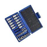 NXYJD Conjunto de Manga de Lote de presión de 34 Piezas Set/Chrome-Vanadium Acero/Pulgada/de manguidad/reparación mecánica Reparación automática Profesional