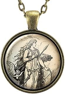 Freyja Pendant Necklace, Viking Freya Jewelry, Norse Scandinavian, Mythology & Folklore, Female Warrior