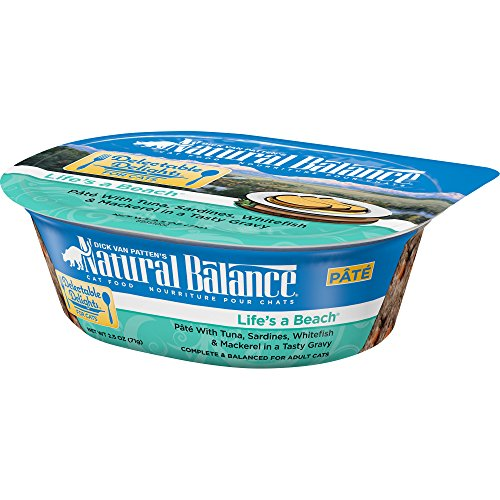 Natural Balance Delectable Delights Wet Cat Food Pate, LifeS A Beach, 2.5 Ounce Cup (Pack of 12)