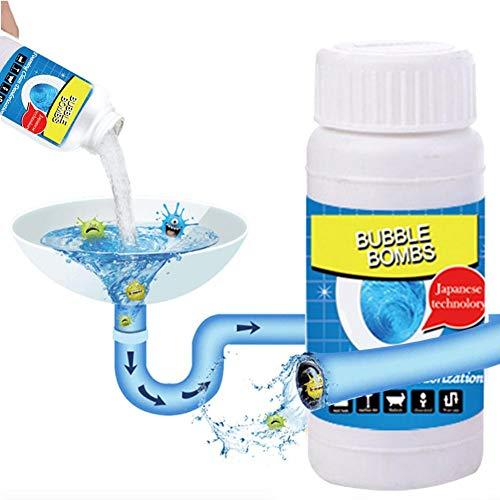 Leistungsstarker Abflussreiniger, Küchenabflussreiniger, Toilettenreiniger, sinken Deodorant Sauerstoff-Blasen-Reiniger schnell Schaumreiniger Toilette sauberes Wasse Rohrreinigungszubehör