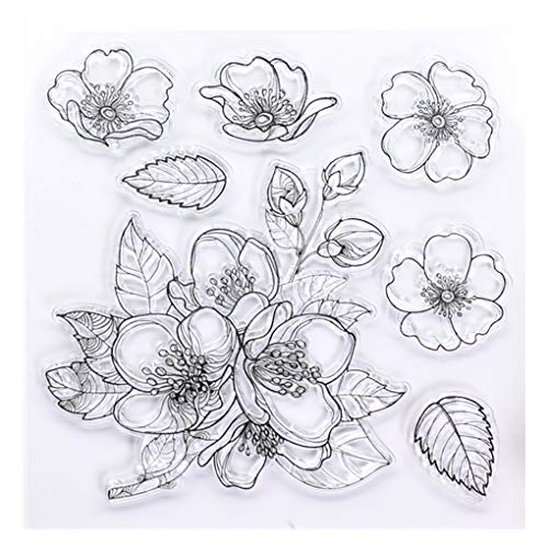KWELLAM Flowers Clear Stamps for Card Making Decoration and DIY Scrapbooking
