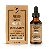 Abbot Kinney Apothecary Softening Beard and Mustache Oil - Natural Oil Blend Made with Essential Oils, Energizing Citrus, 2 oz