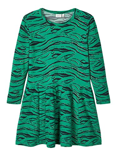 NAME IT Damen Kleid Zebramuster Strick 116Leprechaun