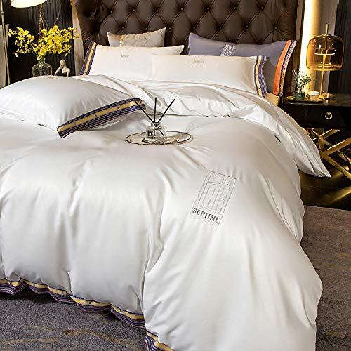 Funda nórdica Funda de colcha 150 cm,XIA Siki Down traje cuatro set, seda nórdica seda de seda cama doble cama individual almohada de cama, amigos colegas hombres, dia de la madre regalo-Esconder_1,8