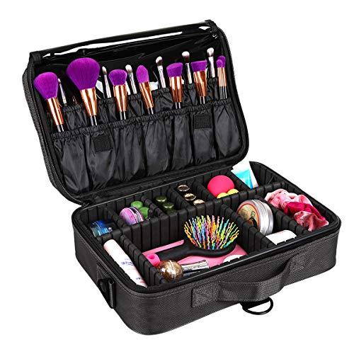 Hotrose Professhional neceser para cepillos de maquillaje, bolso con asa de correa...