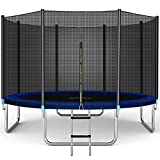 Trampolines 11FT Jump Trampoline, ASTM Approved, with Enclosure Net, Spring Pad, Ladder - Combo Bounce Outdoor Trampoline for Kids, Adults Family Happy Time