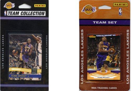 C & I Collectables NBA Los Angeles Lakers 2 Verschiedene lizenzierte Sammelkarten-Teamsets
