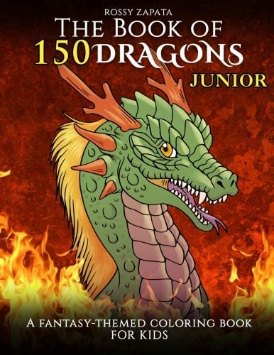 The Book of 150 Dragons Junior A Fantasy Themed coloring book for kids product image