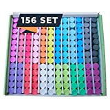 Chalk World Jumbo Sidewalk Chalk Sets for Kids, 156 Pieces, 18 Colors of Bright & Vibrant Jumbo Chalk, Washable, Non-Toxic Outdoor Chalk, Sidewalk Chalk Bulk, Driveway Chalk That Doesn't Roll