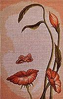 刺繍キット ししゅうきっと クロスステッチ フラワーウーマンハーフクロスステッチ40x25cm クロスステッチ刺繍家の手作りのリビングルームの新しい刺繍