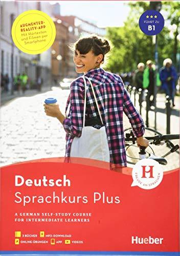 Sprachkurs Plus Deutsch B1, Englische Ausgabe. Buch mit Audios und Videos online, App, Online-Übungen und Begleitbuch: A German Self-Study Course for Intermediate Learners