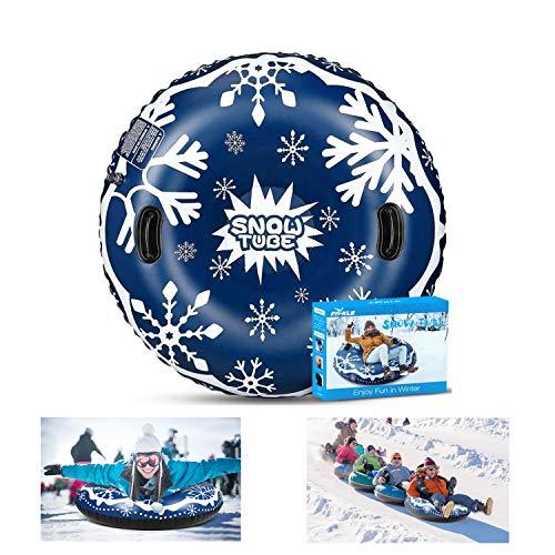 YCSD Snow Sled,Snow Tubes,Inflatable Snow Tubes 47 Inch Inflatable Snow Sled For Kids and Adults