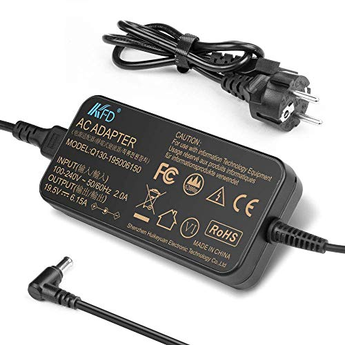 KFD 120W 19V 100W Notebook Laptop Ladegerät AC Netzteil für Sony Vaio VGP-AC19V46 VGP-AC19V45 PCGA-AC19V7 ADP-120MB VPCF115FM VPCF115FM/H, LG HF60LA LED Full HD CineBeam Projector 6,32A 6,5x4,4mm