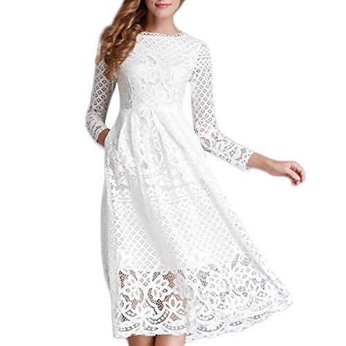 Lista de los 10 más vendidos para vestidos blancos largos sencillos