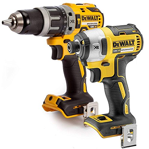 DEWALT DCF887 18V Brushless Impact Driver with DCD796N Combi Drill Twin Pack, 18 V
