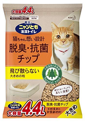 ニャンとも清潔 脱臭・抗菌チップ 大容量 大きめ 4.4L [猫砂]