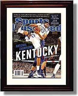 Framed Kentucky Wildcats 2012 Champions Anthony Davis Autograph Replica Print