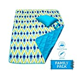 DOZZZ Waterproof Sand Proof Picnic Blanket Foldable Compact Mats for Camping Beach Outdoor Park Grass Travel Festival Sporting Events
