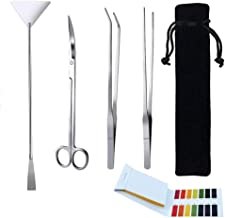 Jeeco 5 in 1 Aquascape Tools Aquarium Scissor Tweezers Spatula – Stainless Steel..