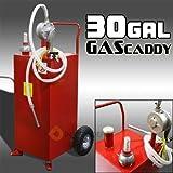 ืืืnikkycozie 30 Gallon Tank Container w/Rotary Pump Gas Fuel Diesel Caddy Portable Transfer