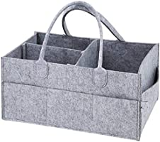 SKY-TOUCH Baby Diaper Caddy Organizer Tote Bag - Baby Shower Gift Basket   Nursery Storage Bin for Changing Table  ...
