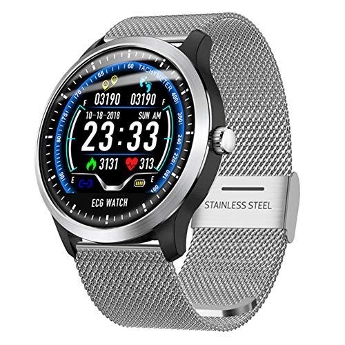 AIFB Herzfrequenz-Monitor, Smartwatch, wasserdicht, Schlaf-Tracker, Schrittzähler, Alarm, Fitness-Tracker, Push-Benachrichtigung für Android iOS Handy, D-One Size