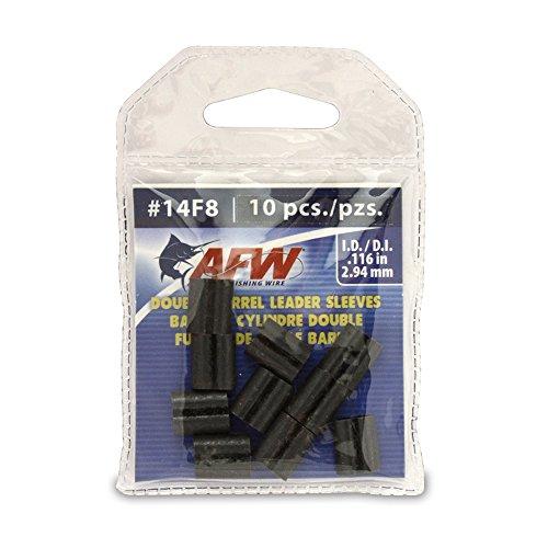 American Fishing Wire - Vorfachtakelung in schwarz, Größe 1000 Pieces, 0.096 -Inch Inside Diameter