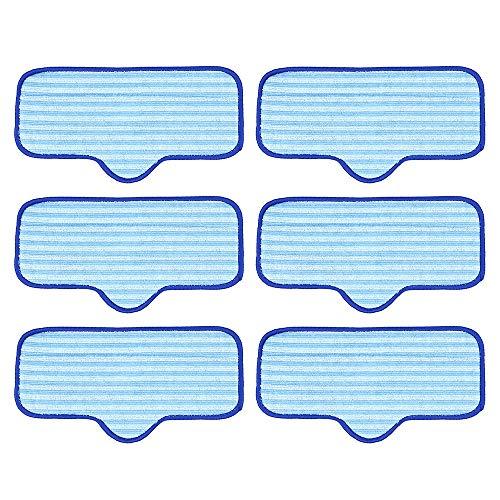 DingGreat 6 Stück Waschbare Ersatz Mikrofaser Mop Pads für Dupray Neat Dampfreiniger