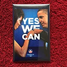 Hope President Barack Obama Michelle Button Pin Yes we can