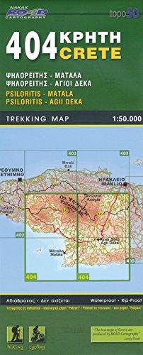 Psiloritis, Matala, Agii Deka (Kreta), 1.50 K, Wanderkarte, GPS-kompatibel, 2014 Ausgabe, ORAMA, # 404