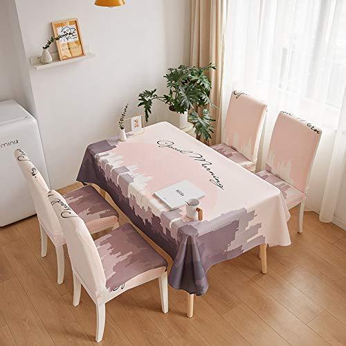 PhantasyIsland.com Manteles Rectangular Antimanchas para Comedor Cocina o Salón 140 * 180cm