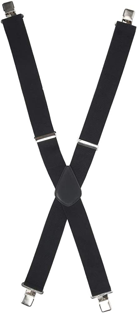 Simlug X‑Back Suspenders, Thick and Soft Light Weight Four Fixed Clips Men's Wide Suspenders, 50mm Trousers Dress Pants Man DIY School Jeans for Home Students