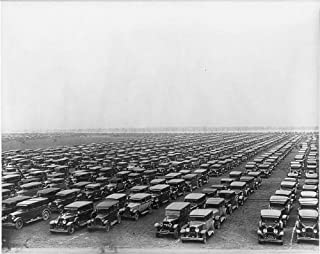 HistoricalFindings Photo: Parking lot,Autos,Soldiers Field,Notre Dame USC Football Game,Chicago,IL,1929