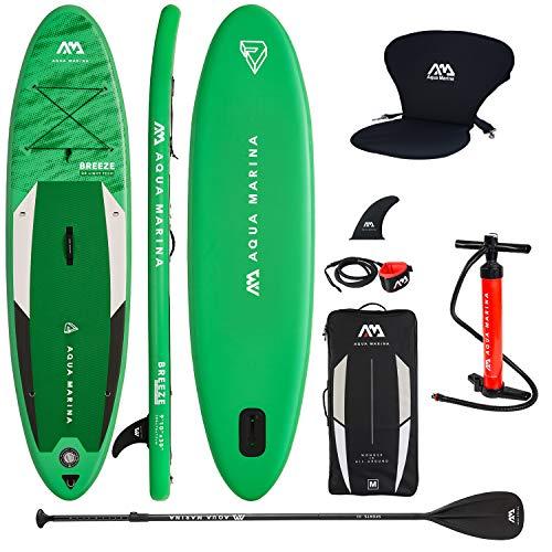 Aqua Marina Sup Board Stand Up Paddle AQUAMARINA Breeze 2019 Paquete completo 275 x 76 x 12 cm con asiento de kayak