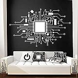 Placa de circuito integrado Computadora Tecnología de teléfono móvil CPU Chip IT Vinilo digital Etiqueta de la pared Calcomanía Dormitorio Oficina Club Estudio Decoración para el hogar Mural