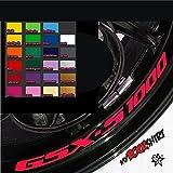 myrockshirt 4X Suzuki GSX-S 1000 Felgen-Innenrand-Aufkleber Felgenrandaufkleber Innrandaufkleber Motorrad Bike Tuning Sticker Aufkle