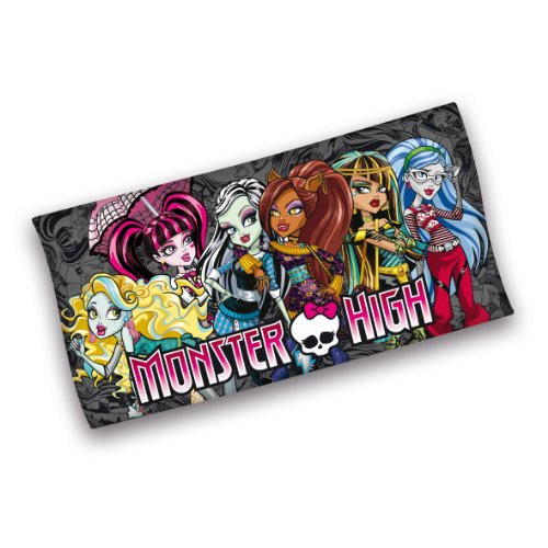 Herding 612777516521 Velourshandtuch Monster High, 75 x 150 cm, 100 % Baumwolle, bedruckt