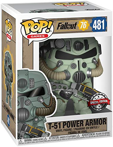 Fallout 76 - T-51 Power Armor Vinyl Figure 481 Unisex ¡Funko Pop! Standard, Vinilo,