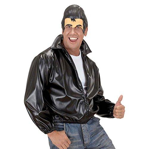 NET TOYS Masque sans Menton avec Banane Loup Grease Masque d'homme années 50 Couvre-Chef Rock n Roll Masque de Carnaval tête Fifties soirée à thème Accessoires déguisement Masque de Carnaval