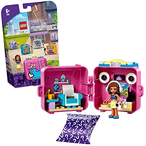 LEGO 41667 Friends Le Cube de Jeu d'Olivia – Série 5 Mini-poupée de Voyage, Jouet de Collection