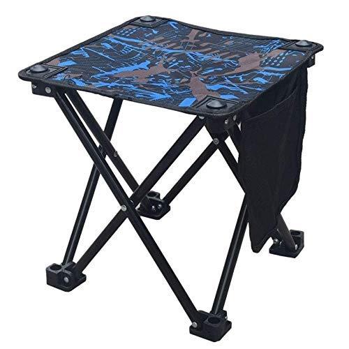 YLJYJ Taburete de Camping portátil Silla de Campamento Plegable pequeña con Bolsa de Transporte para Playa de jardinería Fisngking (Color: Negro)