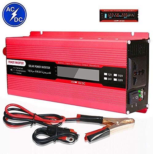 KPL potencia del inversor de onda sinusoidal pura Inversor de la CC 12V / 24V a 110V / 230V AC convertidor de energía con adaptador de encendedor, se puede utilizar for viajes por carretera, Oficina M
