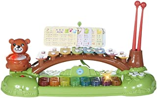 MeeYum 3-in-1 Xylophone, Drum, Keyboard Piano Casio for Babies, Toddlers, and Kids Musical Toy, Instrument for Nursery, Preschool with Learning Music Card Songbook