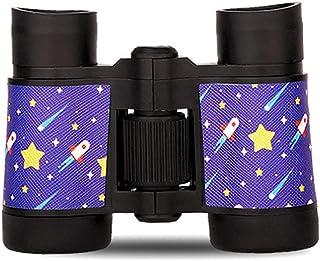 ZJJX Barnkikare, kikare, 4 x 30 teleskop, gummi halkskydd bärbara presenter för barn presenter