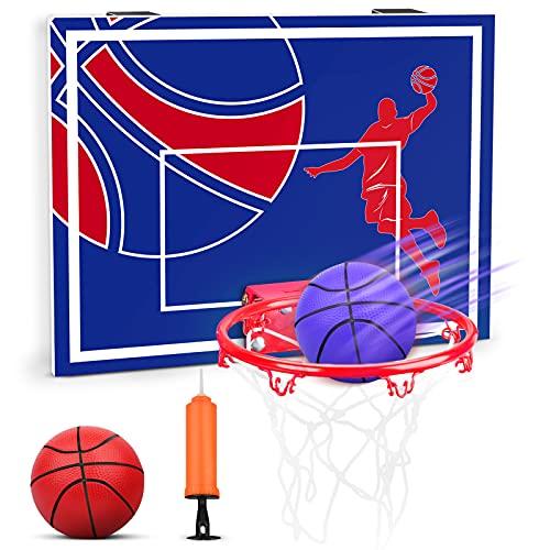 YIMORE Canasta Baloncesto Infantil Exterior, Tableros Portátiles de Baloncesto Pared Casa Juguete Exterior, Regalo para Niño Niña de 5 años