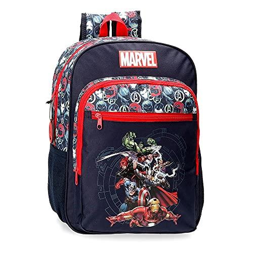 Marvel Los Vengadores Avengers Team Mochila Escolar Azul 30x38x12 cms Poliéster 13,68L