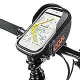 Sacoche de cadre vélo pour Smartphone, Furado Sacoches de Guidon Vélo Résistante à l'eau avec Emplacement pour Téléphone sous 6 pouces Sac de Cyclisme