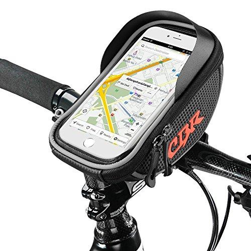 Furado Sacoche de Cadre vélo pour Smartphone, Sacoches de Guidon Vélo Résistante à l'eau avec Emplacement pour Téléphone sous 6 Pouces Sac de Cyclisme